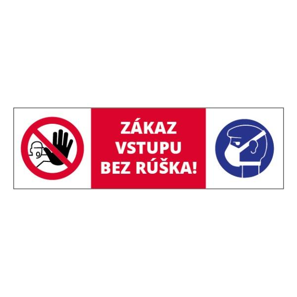 Zákaz vstupu bez rúška