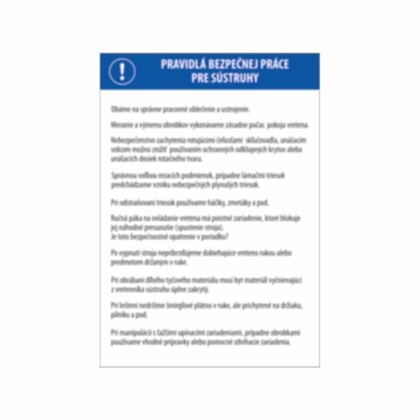 Pravidlá bezpečnej práce pre sústruhy