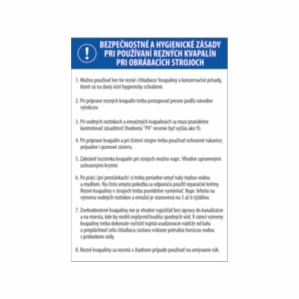 Zásady pri používaní rezných kvapalín pri obrábacích strojoch