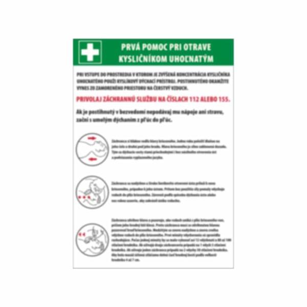 Prvá pomoc pri otrave oxidom uhoľnatým