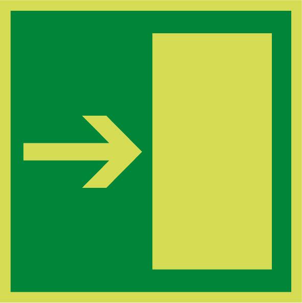 Fotoluminiscenčný záchranný symbol E004