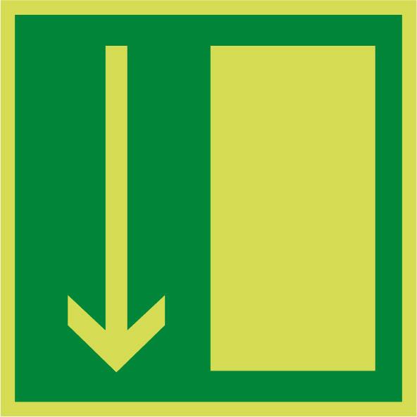 Fotoluminiscenčný záchranný symbol E005