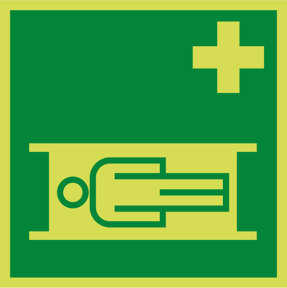 Fotoluminiscenčný záchranný symbol E007