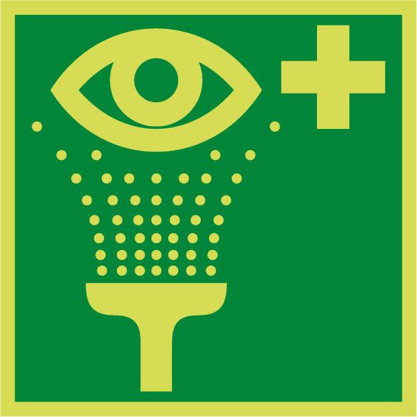 Fotoluminiscenčný záchranný symbol E009