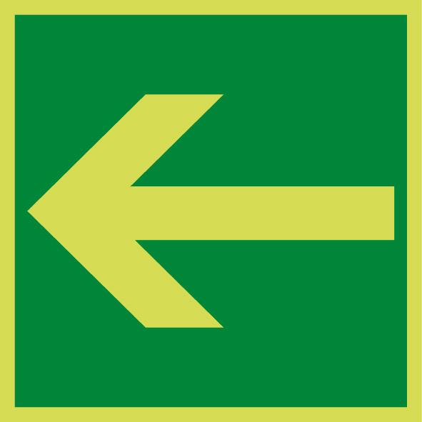 Fotoluminiscenčný záchranný symbol E013
