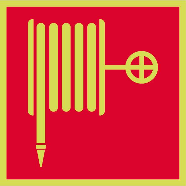 Fotoluminiscenčný požiarny symbol F001