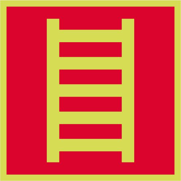 Fotoluminiscenčný požiarny symbol F002