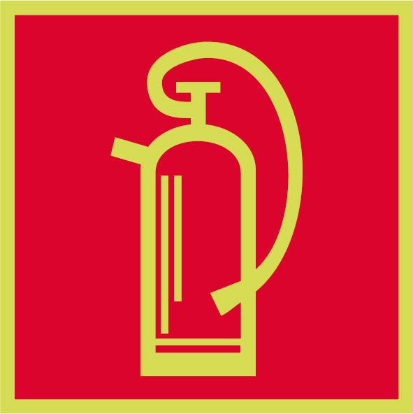 Fotoluminiscenčný požiarny symbol F003