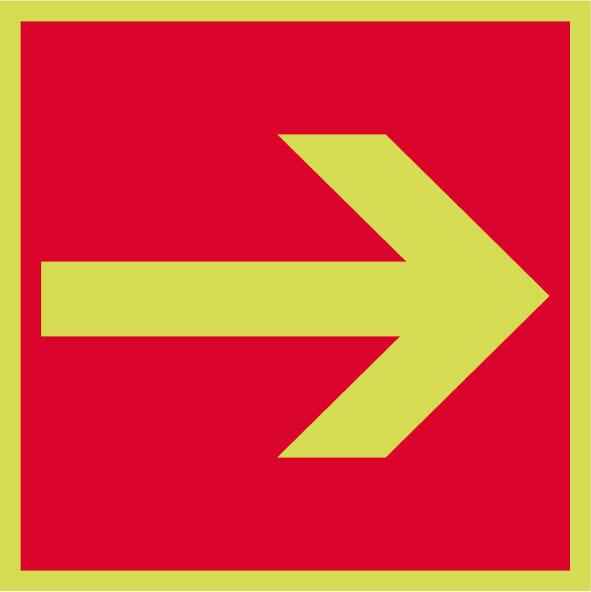 Fotoluminiscenčný požiarny symbol F005