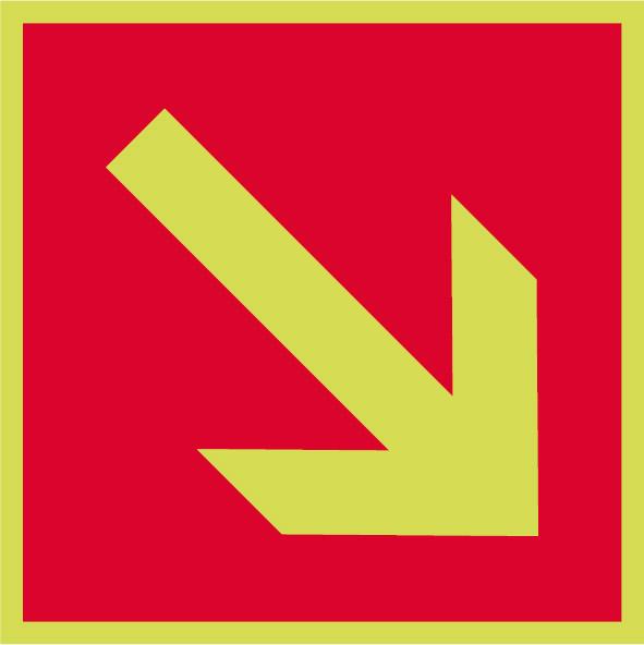 Fotoluminiscenčný požiarny symbol F007