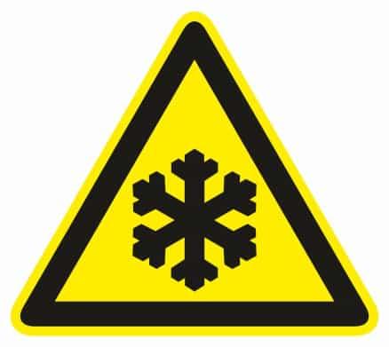 Nebezpečne nízka teplota