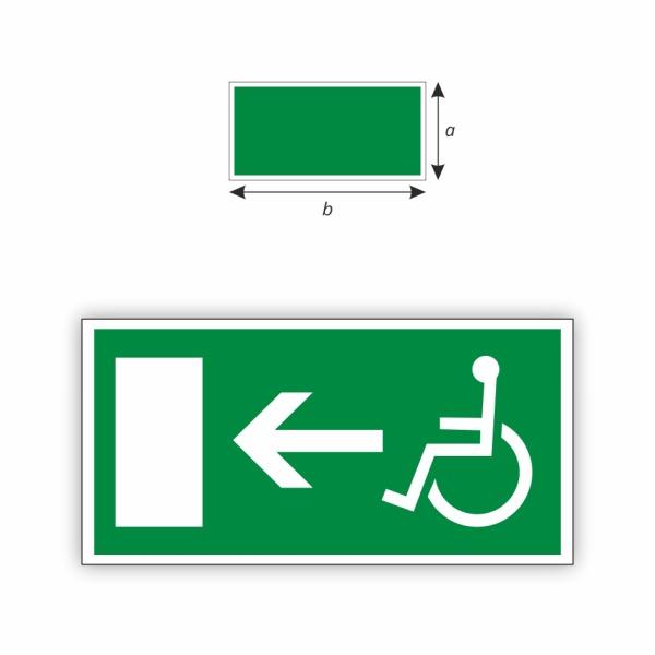 Únikový východ vľavo invalid