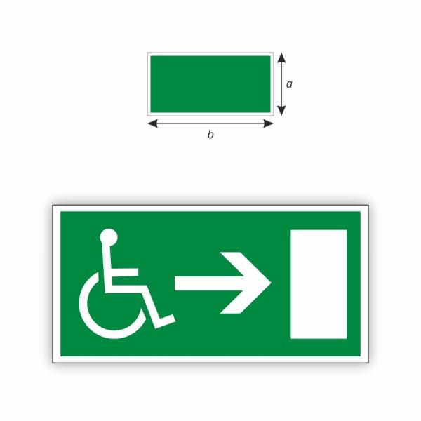 Únikový východ vpravo invalid