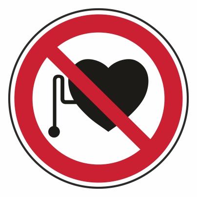 Zákaz vstupu s kardiostimulátorom