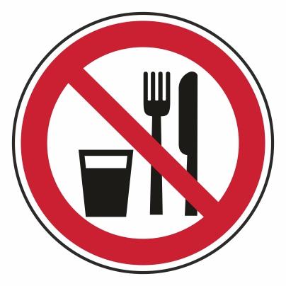 Zákaz jedenia a pitia