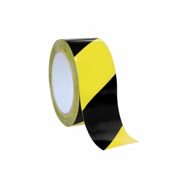Výstražná páska žlto-čierna pravá