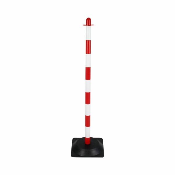 501 - Plastový stĺpik červeno-biely