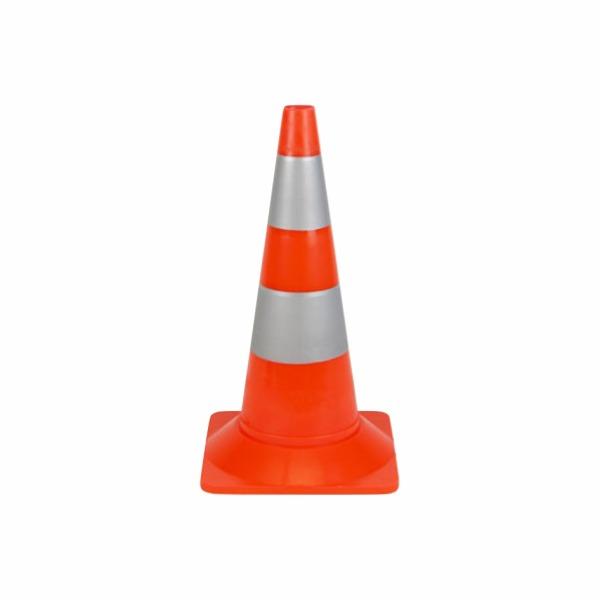 508 - Dopravný kužeľ - oranžový s bielymi reflexnými pruhmi