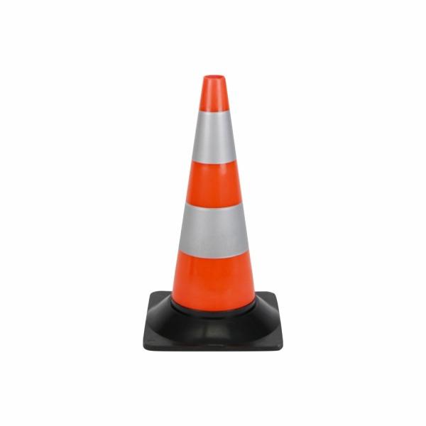 509 - Dopravný kužeľ - oranžový s bielymi reflexnými pruhmi