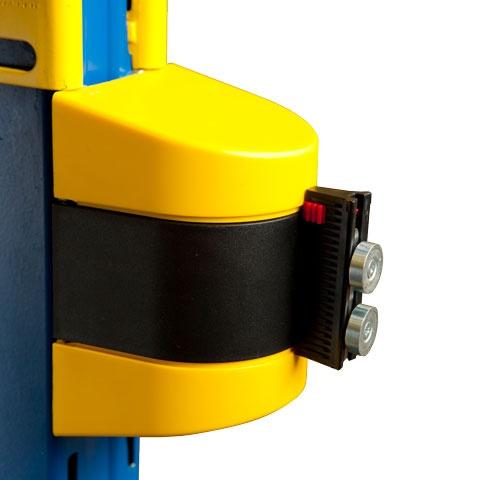 Nástenná magnetická zábrana proti vstupu - čierna kazeta a čierna páska
