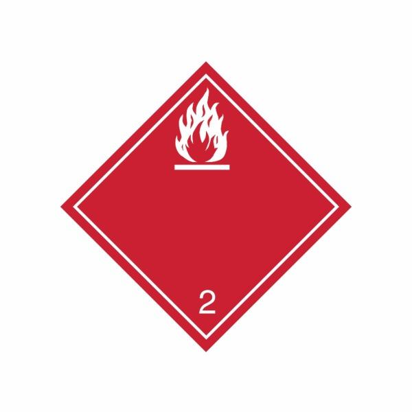 ADR č. 2.1 – Nebezpečenstvo požiaru (horľavé kvapaliny) - biely plameň