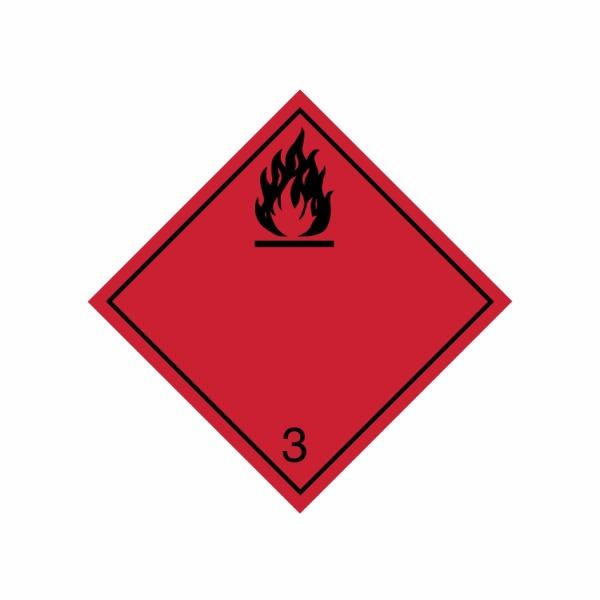 ADR č. 3 – Nebezpečenstvo požiaru – čierny plameň