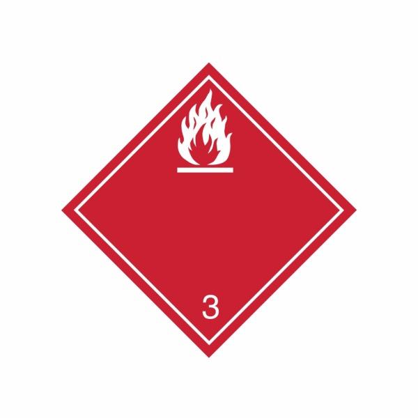 ADR č. 3 – Nebezpečenstvo požiaru – biely plameň