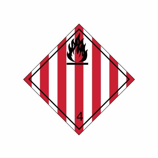 ADR č. 4.1 – Nebezpečenstvo požiaru (horľavé tuhé látky)