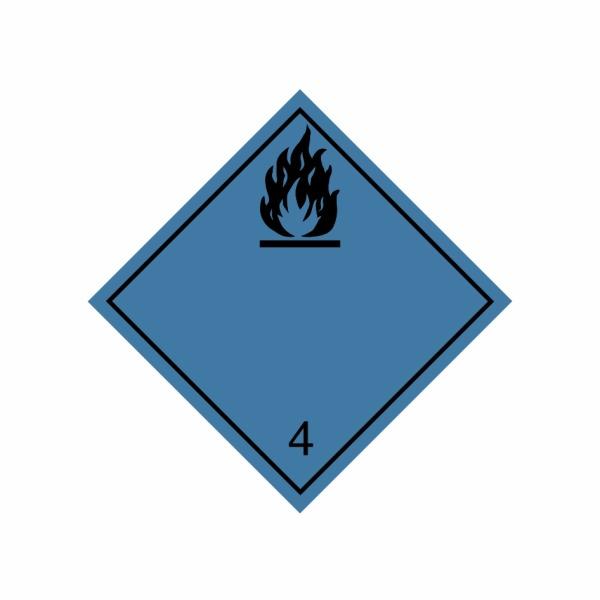 ADR č. 4.3 – Nebezpečenstvo horľavého plynu pri styku s vodou - čierny