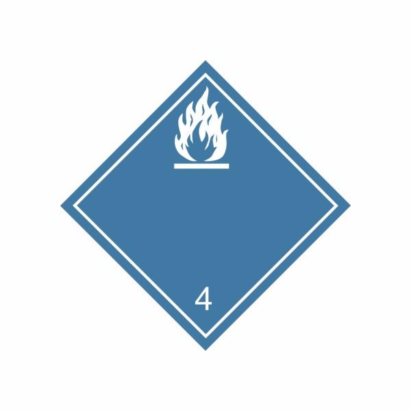 ADR č. 4.3 – Nebezpečenstvo horľavého plynu pri styku s vodou - biely