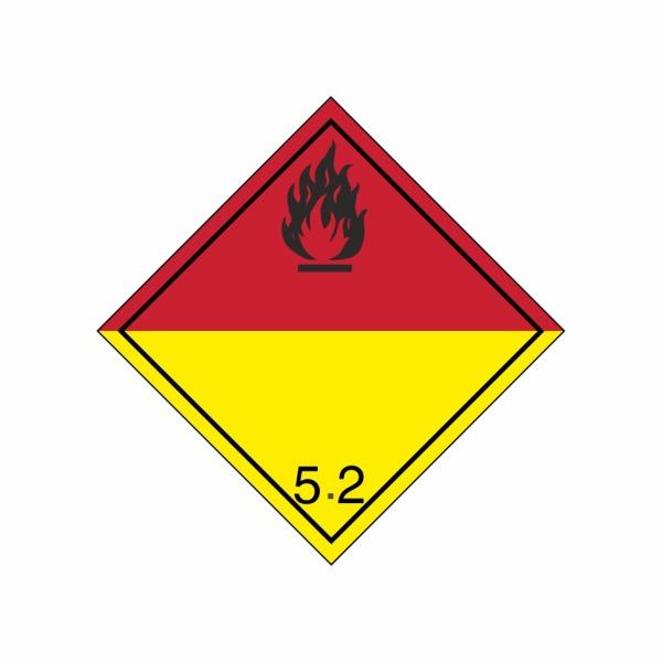 ADR č. 5.2 – Organický peroxid, nebezpečenstvo požiaru - čierny plameň