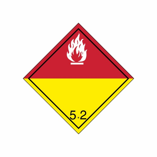 ADR č. 5.2 – Organický peroxid, nebezpečenstvo požiaru - biely plameň