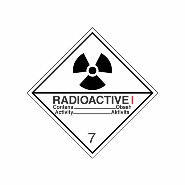 ADR č. 7A – Rádioaktívna látka v kusoch kategórie I