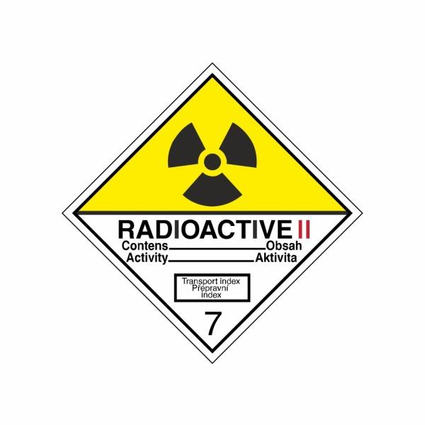 ADR č. 7B – Rádioaktívna látka v kusoch kategórie II