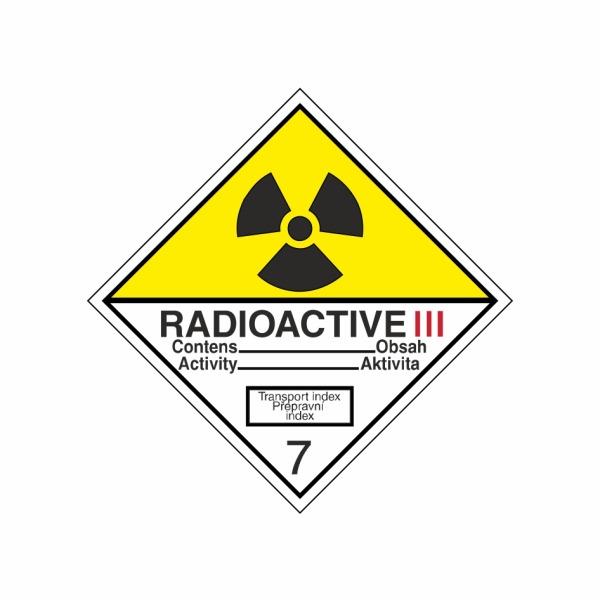 ADR č. 7C – Rádioaktívna látka v kusoch kategórie III