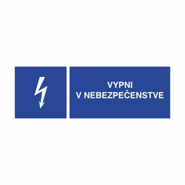 05 - Vypni v nebezpečenstve - elektrotechnická značka