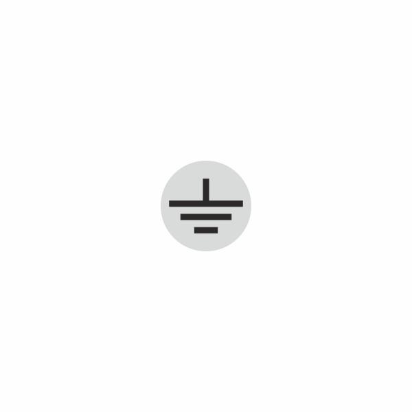 08 - uzemnenie strieborno čierne- označovacia elektrotechnická značka