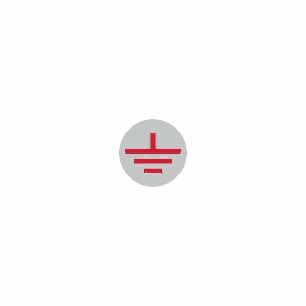 08 - uzemnenie strieborno červené - označovacia elektrotechnická značka