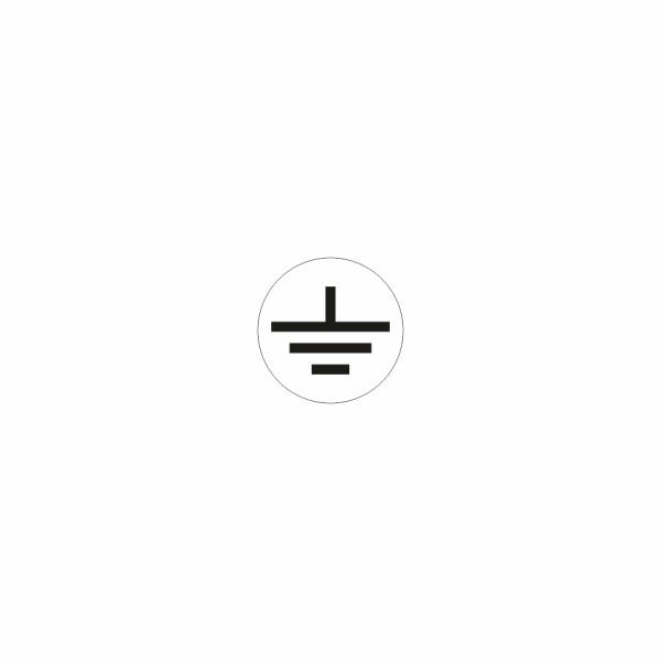 08 - uzemnenie bielo čierne - označovacia elektrotechnická značka