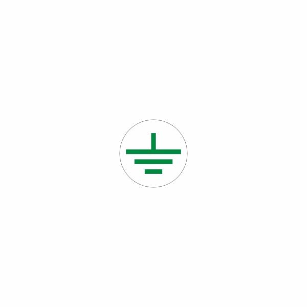 08 - uzemnenie bielo zelené - označovacia elektrotechnická značka