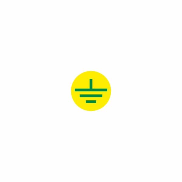 08 - uzemnenie žlto zelené - označovacia elektrotechnická značka