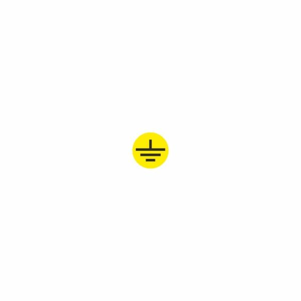 09 - uzemnenie žlté - označovacia elektrotechnická značka