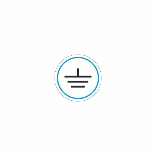 10 - uzemnenie modro čierne - označovacia elektrotechnická značka