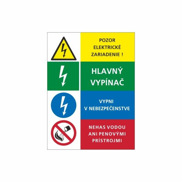 16 Štvorkombinácia - označovacia elektrotechnická značka