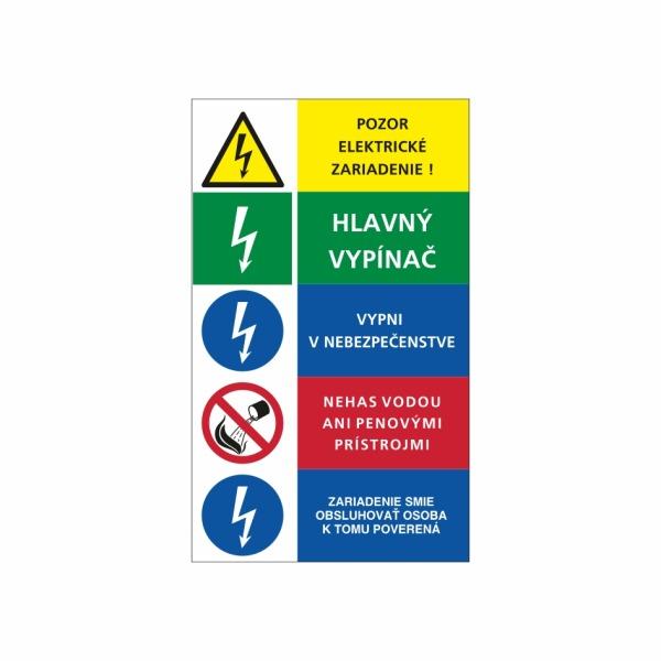 16+3 Päťkombinácia - označovacia elektrotechnická značka