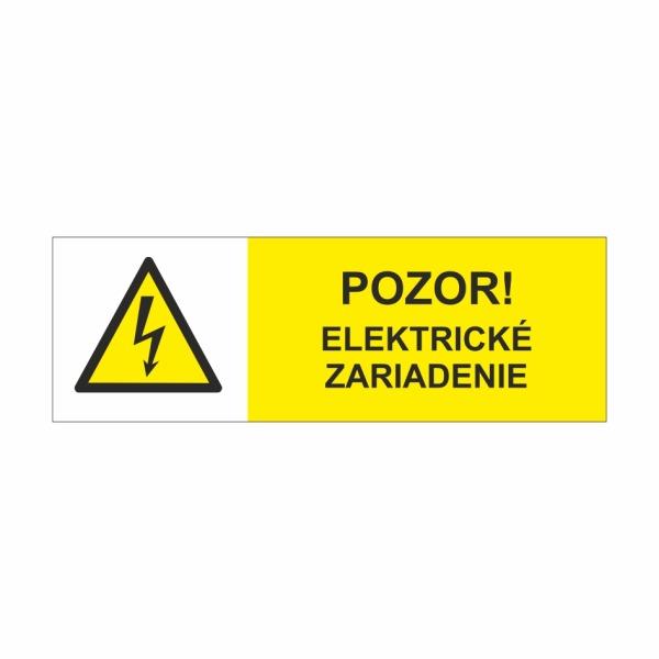 23 Pozor elektrické zariadenie - označovacia elektrotechnická značka