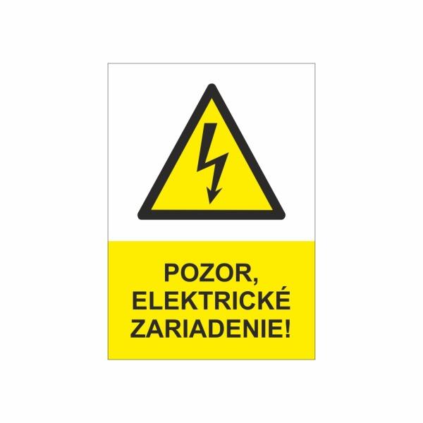 23 Pozor elektrické zariadenie - zvislá označovacia elektrotechnická značka
