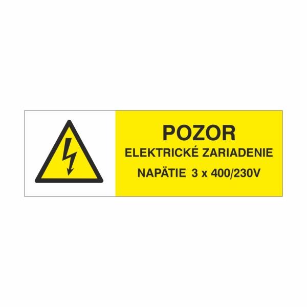 24 Pozor elektrické zariadenie! Napätie 3x 400V/230V - elektrotechnická značka