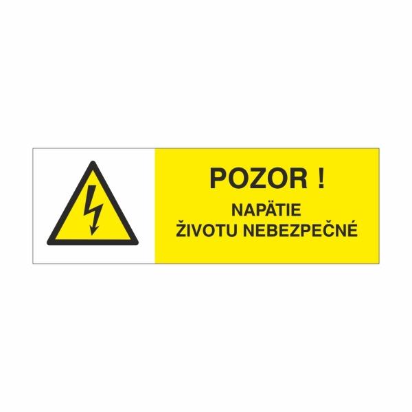 25 Pozor napätie životu nebezpečné - označovacia elektrotechnická značka
