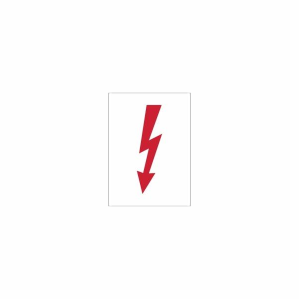28 Blesk biely - označovacia elektrotechnická značka